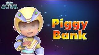 Vir : The Robot Boy | Piggy Bank | 3D Action shows for kids | WowKidz Action