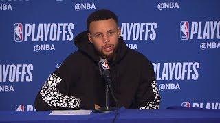 Stephen Curry Postgame Interview - Game 1 | Rockets vs Warriors | 2019 NBA Playoffs