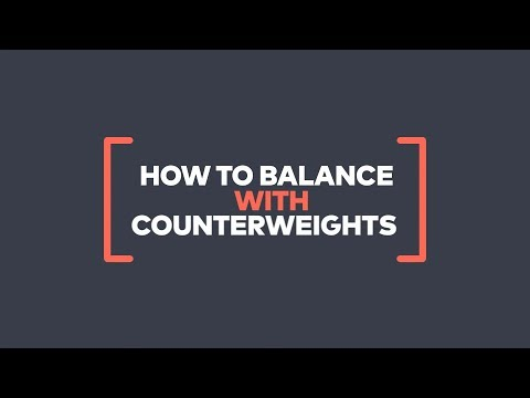 Movi - How to balance using counterweights