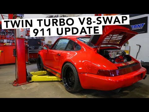 Twin Turbo Chevy GM V8 Swapped Porsche 911 - Engine Is In! - 동영상