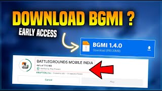 EARLY ACCESS - HOW TO DOWNLOAD BATTLEGROUND MOBILE INDIA