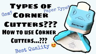 60. Types of Corner Punches? How to use Corner Cutters? Dress My Craft 3 in 1 Corner Punch