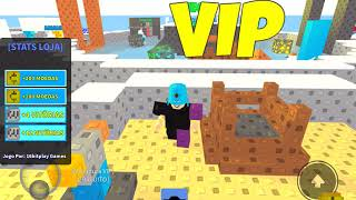 Playing Roblox (Skywars) with my friend Lokis (Ale)