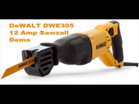 DeWALT DWE305 12 Amp Sawzall Unboxing & Demo (Reciprocating Saw) (SurvivalGeek)