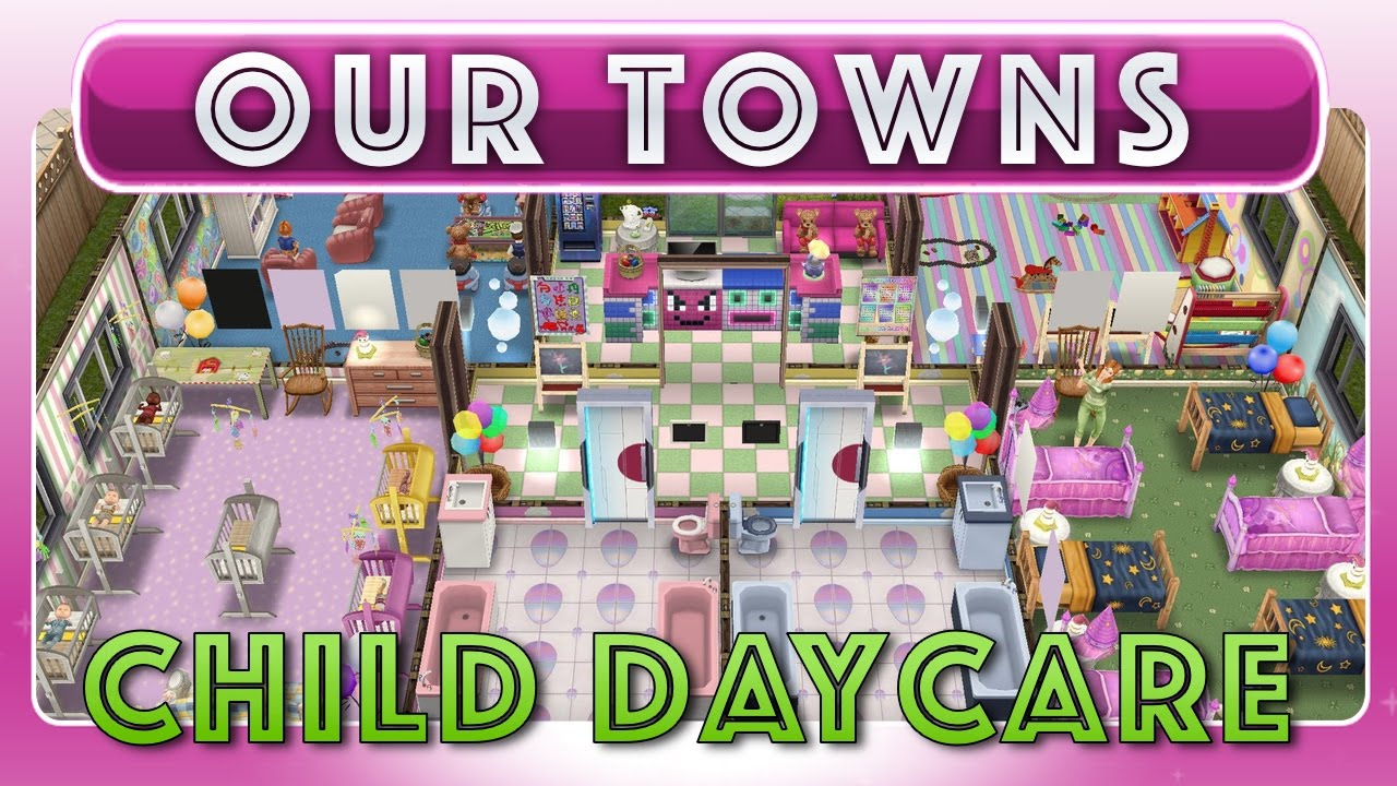 Sims FreePlay Child Daycare Center Original House