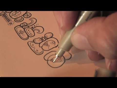 Dr. Mark Van Stone - How Maya Hieroglyphs are written - Demonstration