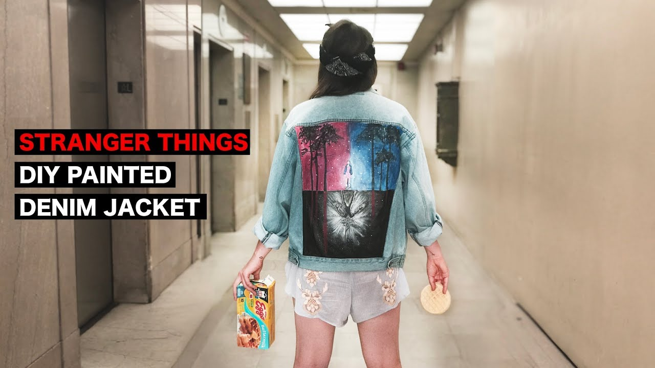 Whatdaymade Diy Stranger Things Painted Denim Jacket