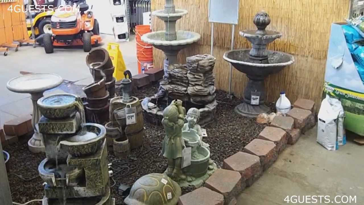 WATER FOUNTAINS GARDEN CENTER AT HOME DEPOT YouTube