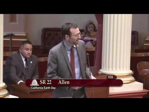 Sen. Benjamin Allen - SR22 California Earth Day