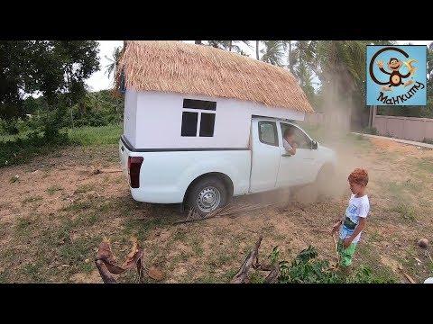 Дети и машина. 24 часа челлендж в Домике на колёсах. Дети и игрушки. Манкиту