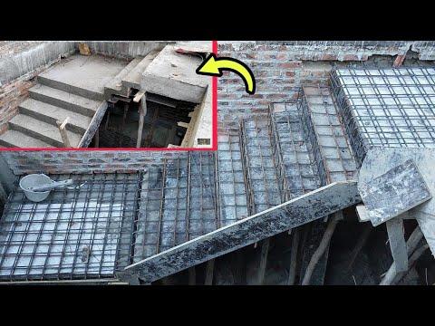 Làm Thế Nào Để Xây Dựng Cầu Thang Ziczac? | Cách Đóng Cầu Thang Ziczac Dễ Làm | ĐỜI THỢ XÂY VLOG