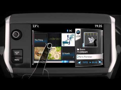 Présentation écran Tactile Multimédia (SMEG) Peugeot 208 ( Www.feline.cc )