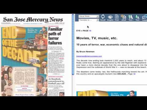 Top Features of e-Edition from the Bay Area News Group