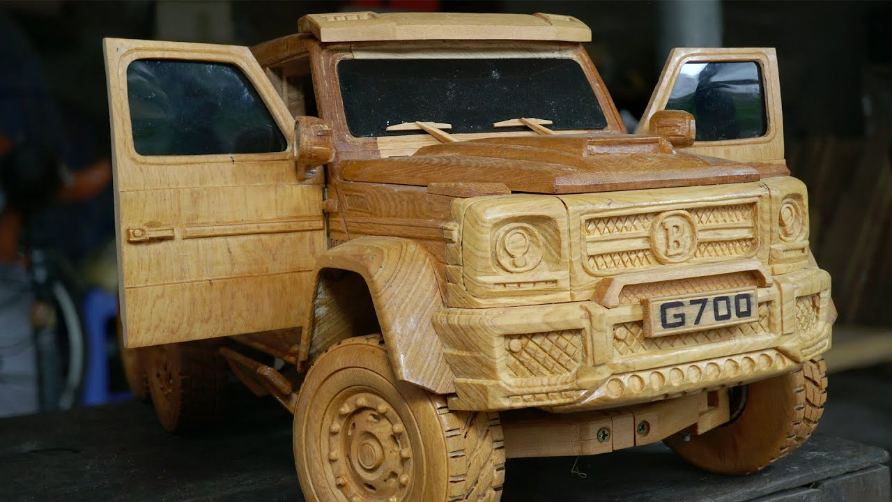 Wood Carving - Mercedes-AMG G63 6x6 Brabus 700 - Woodworking VN