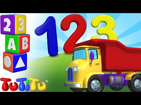 New! TuTiTu Préscolaire | Apprendre l'anglais | Apprendre à Compter jusqu'à 10 | 123 Camion