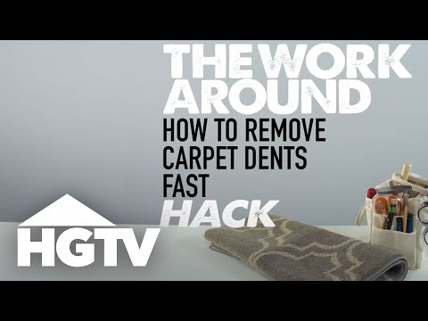 How to Lift Dents from Carpet - The Work Around - HGTV