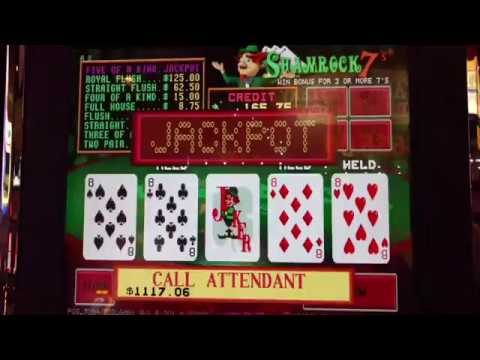 Shamrock 7's Pot-O-Gold 5-of-a-kind Jackpot Win!