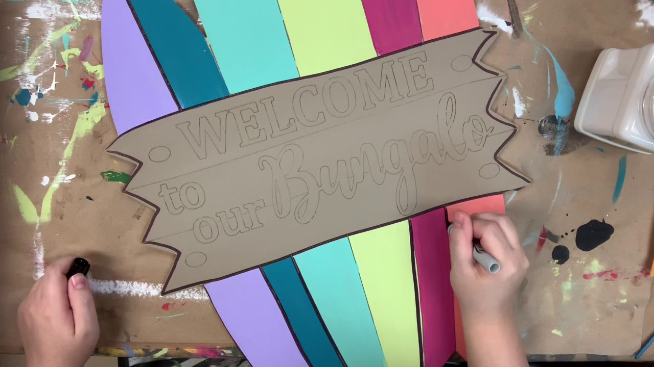 Welcome to our Bungalo Surfboards Wood Shape, Paint by Line (s6u17)