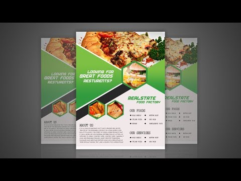 Food Flyer Design for Restaurant - Photoshop Tutorial