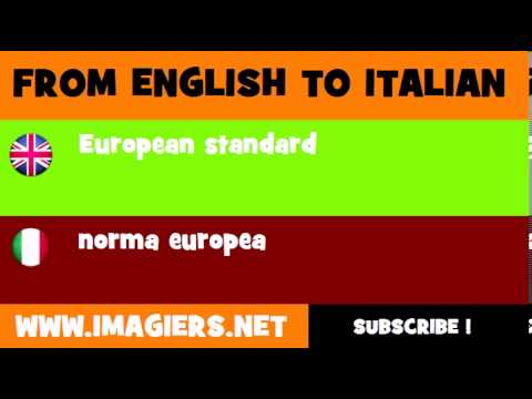 How to say European standard in Italian