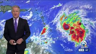 Tropical Storm Kirk's winds now at 50 mph
