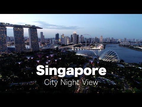SINGAPORE NIGHT AERIAL [4K Cinematic]