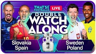 SLOVAKIA vs SPAIN & SWEDEN vs POLAND EURO 2020 Watchalong DEAL WITH Goldbridge and Craig  | NewsBurrow thumbnail