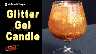 DIY Glitter Gel Candles | How to make | JK Arts 1170