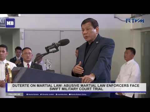 Abusive martial law enforcers face swift military court trial