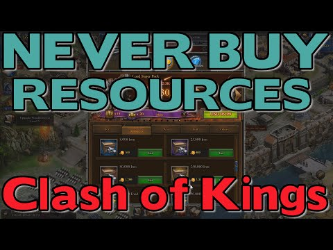 1545 NEVER BUY RESOURCES FROM THE STORE (CLASH OF KINGS TIPS AND TRICKS)