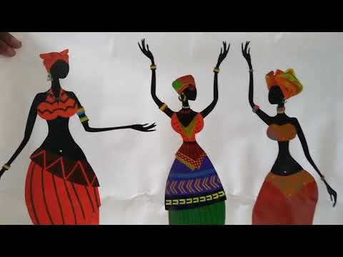 Unboxing Beautiful Decals Design ' African Women' Wall Sticker under 130rs.
