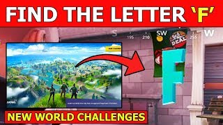 "Search the Hidden ""F"" in the New World Loading Screen! Location Guide - Fortnite Chapter 2 Letter F"