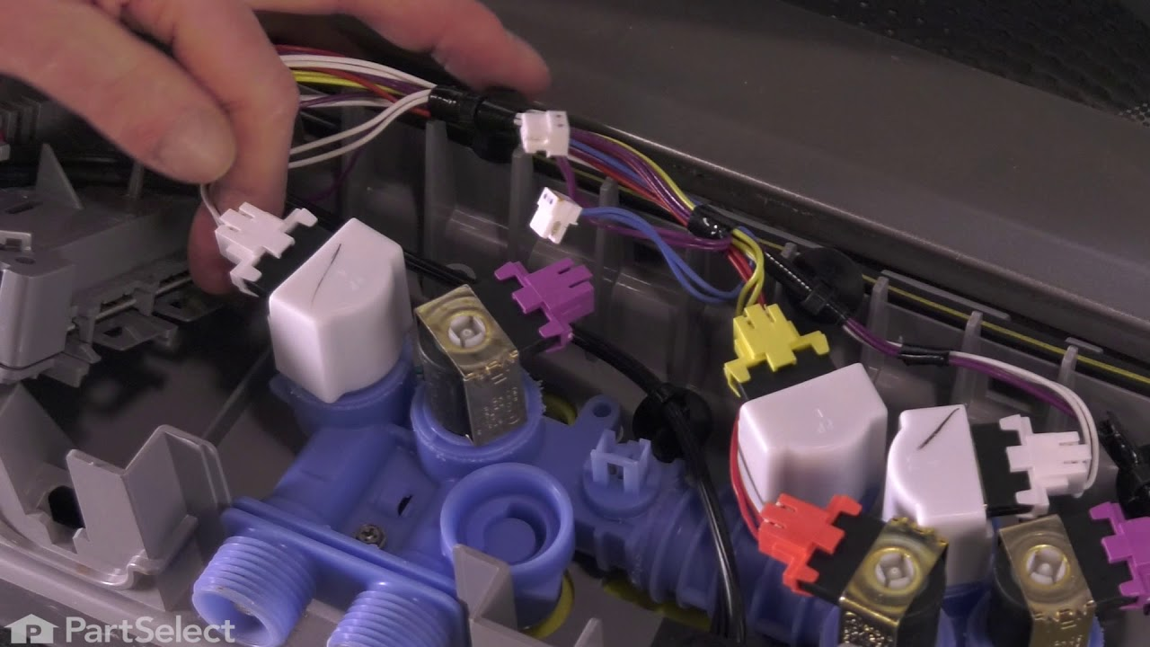 whirlpool washer repair how to replace the inlet water valve whirlpool part w10364988  [ 1280 x 720 Pixel ]