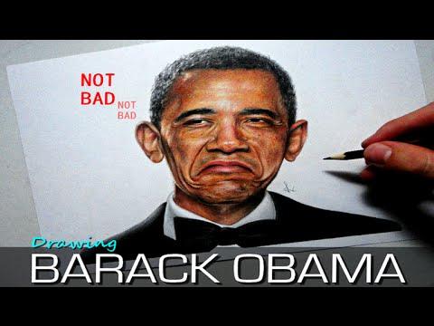 Desenhando Barack Obama (NOT BAD) - YouTube