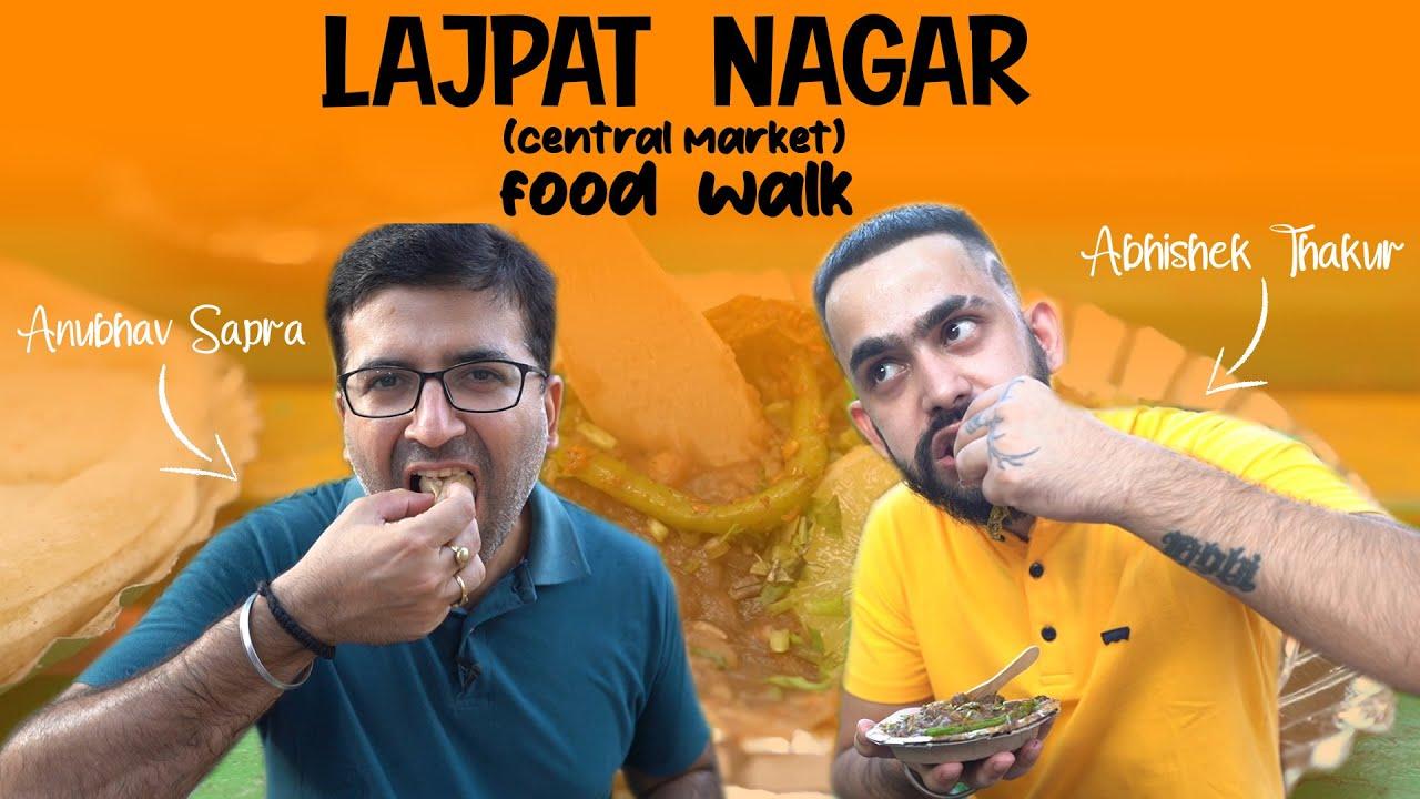 Lajpat Nagar Central Market Food Walk ft @LIT  I CHINESE CHAAT + Ram LADDU + Momo + Banta + KULCHE