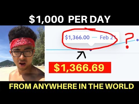 How to Make $1000 a Day While Traveling the World!!