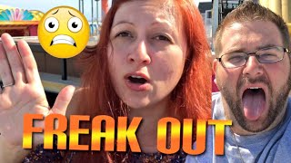 TERRIFIED OF A KIDS RIDE FREAKOUT! CRINGE DAD EMBARRASSES KIDS AT THE ARCADE!