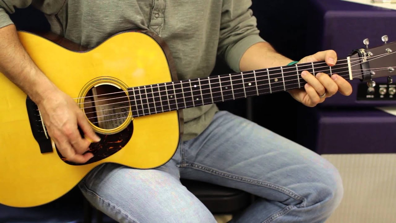 how to play take it easy on acoustic guitar
