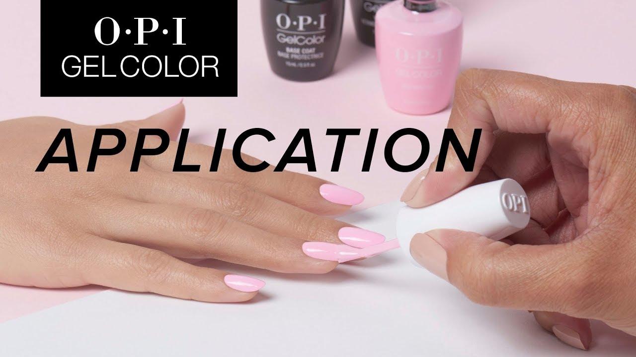 Opi Gelcolor Tutorial Lication