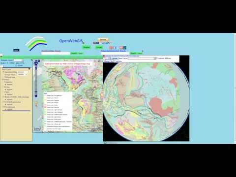 World geology layer in OpenWebGIS: bedrock geology 2D and 3D