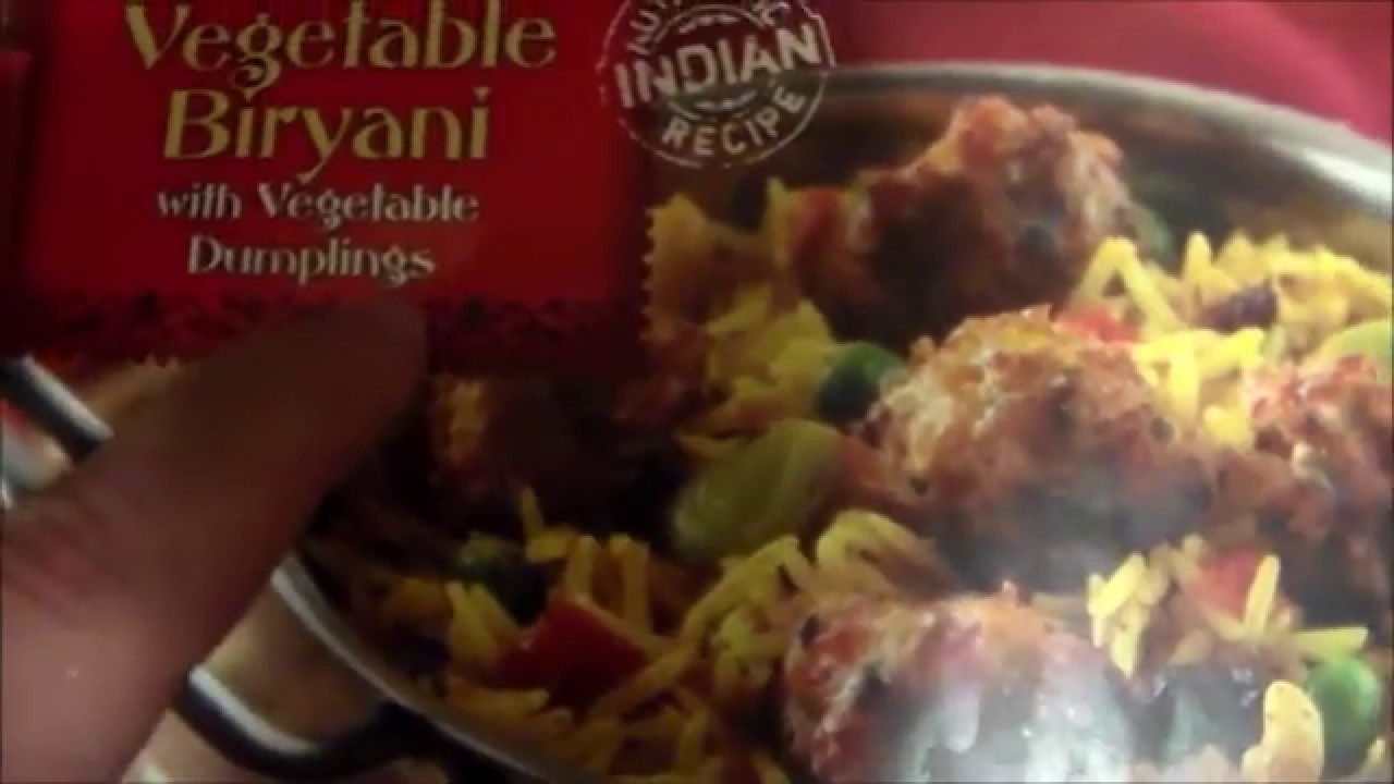 Trader Joe S Vegetable Biryani Frozen Food Review Youtube