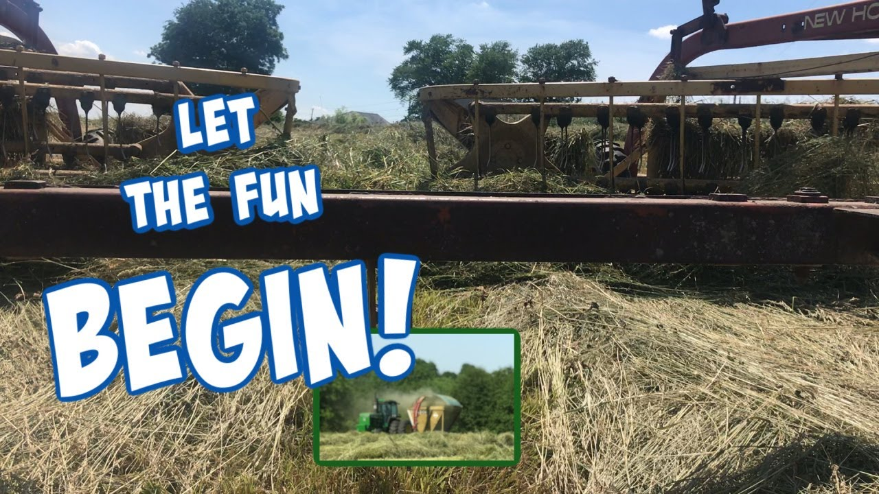First Cutting of Hay Silage for 2020 | life of A Farming Wife