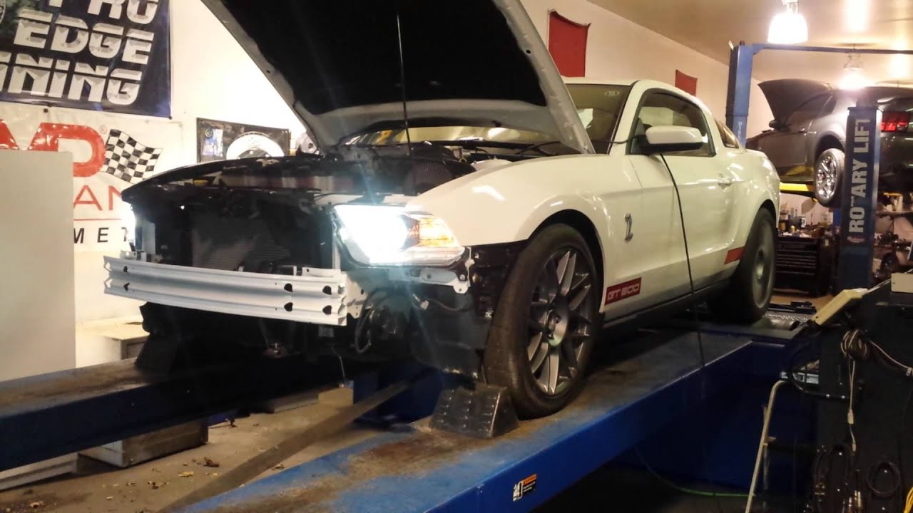 2011 Shelby GT500 Ported Blower dyno by cpstang24