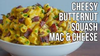 Cheesy Butternut Squash Mac & Cheese  Macarrones con Queso y Calabaza