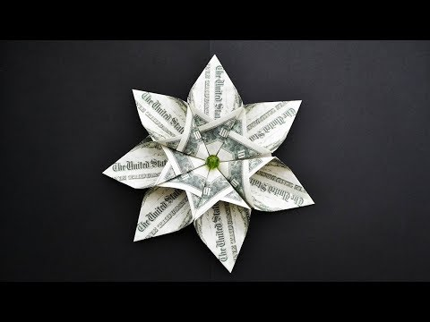 EASY Money FLOWER Out Of 7 Dollar Bills  | I Like It! | Origami  Tutorial DIY (NProkuda)