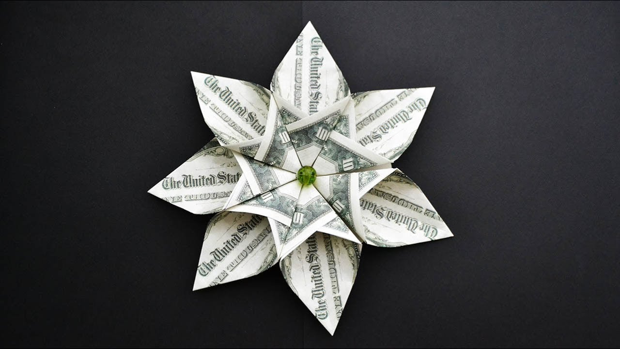 Easy Money Flower I Like It Origami Dollar Tutorial Diy Youtube