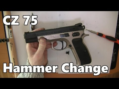 CZ 75 How to change the hammer (trigger job)
