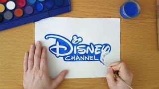 How to draw the Disney Channel logo