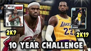 "NBA 2K19 MyTEAM ""10 YEAR CHALLENGE"" SQUAD!! 