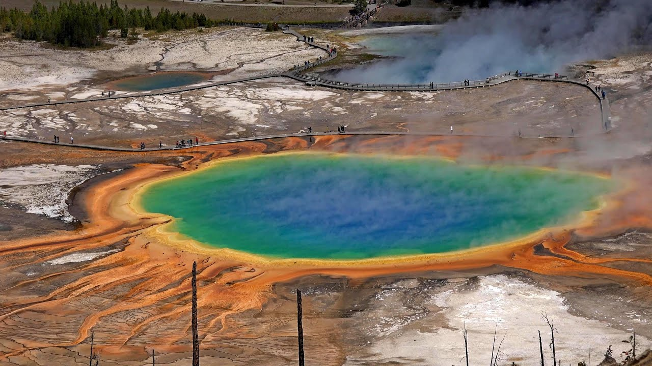 Image result for 7. Grand Prismatic Spring, Wyoming